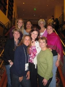 Jenny  Connors, Rachelle Whitfield, Kathy Hassenplug, Jana Plank, Larissa Traquair, Carrie Smith, and Dasha Gariepy