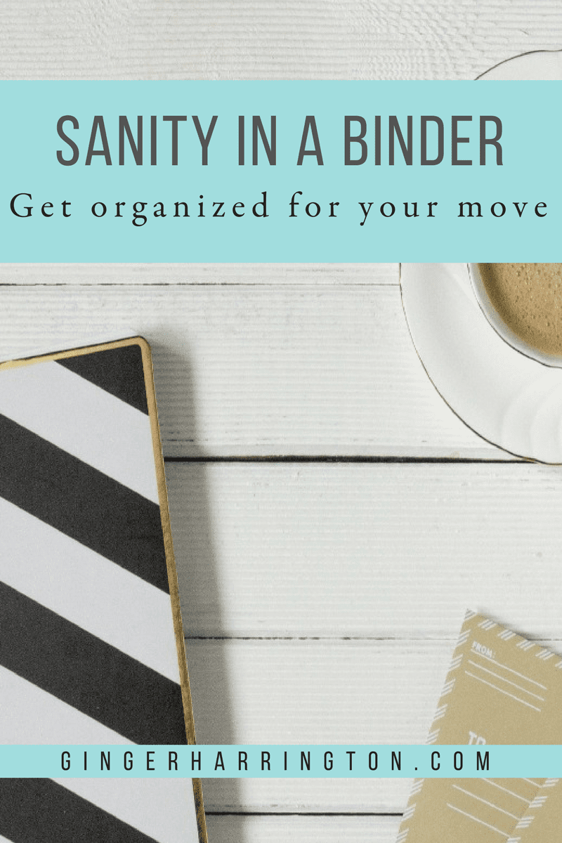 Need to get organized for your move? Make a moving notebook for your move. Get these tips from military spouses.