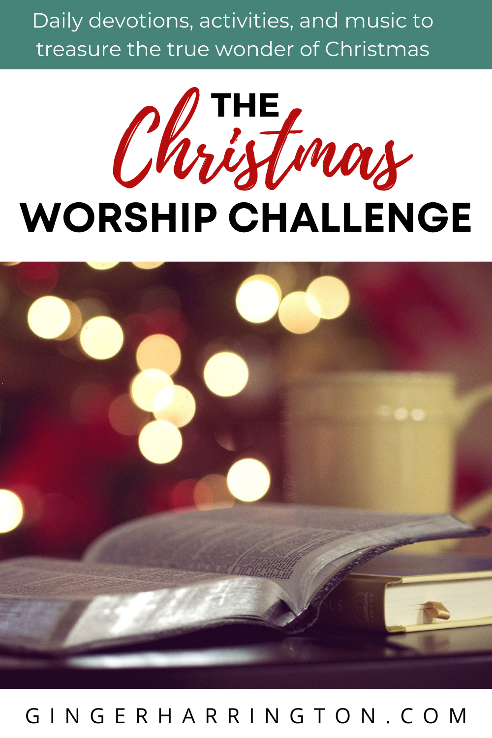 Discover the holy in your holiday with The Christmas Worship Challenge. Daily devotions, activities, and music to focus on Christ first this Christmas. Biblical wisdom for Christian women to grow spiritually this Christmas.