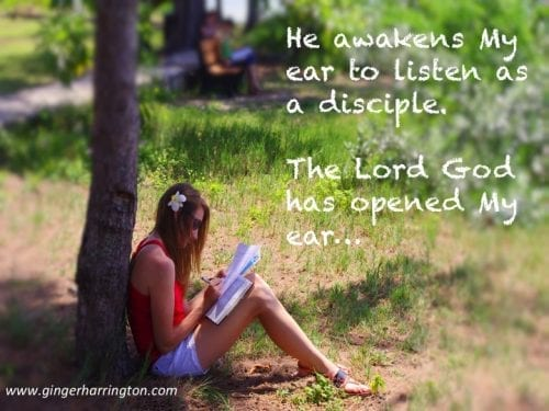 Listening to God is time well spent.