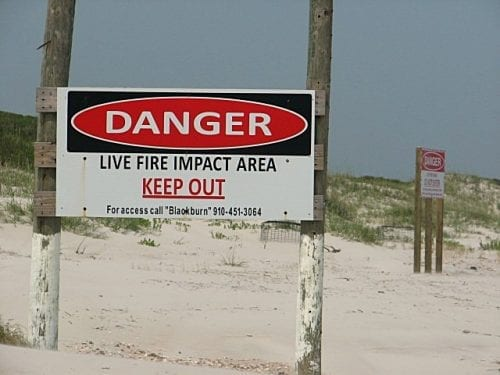 Danger Sign at Beach