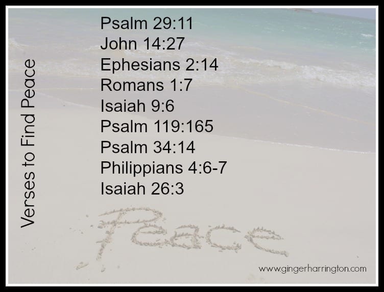 You Can Find Peace: A Summary of Peace Verses