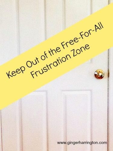 Keep Out of the Frustration Zone
