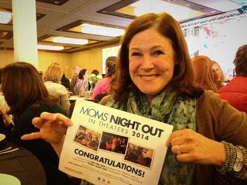Winning a trip to the premier of Mom's Night Out.