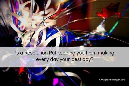 Confetti celebration Resolution Rut