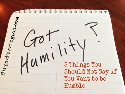 A humorous but true look at the challenge of humilty
