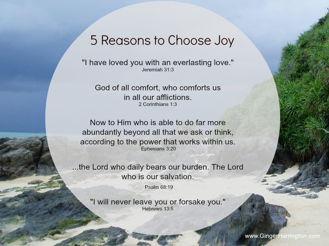 Finally… Choose Joy