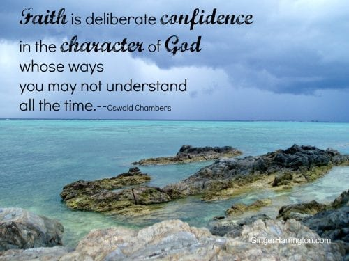 Deliberate confidence in God #chambers