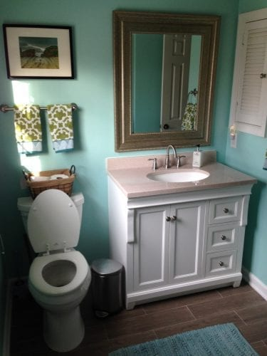 Bathroom Remodel in My Favorite Color