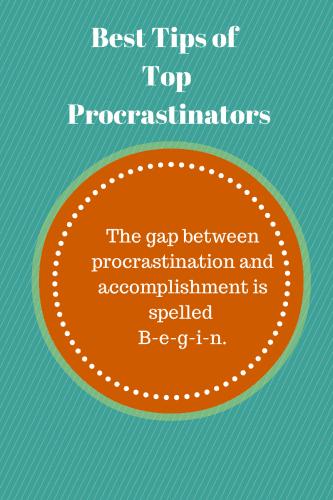 Best Tips of Top Procrastinators (1)