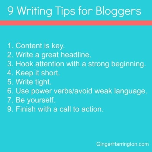 Use these tips to improve your writing and blogging.