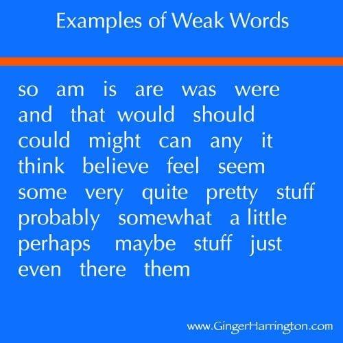 Examples of weak words