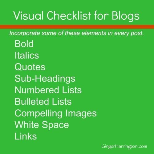 Visual Checklist for Blogs