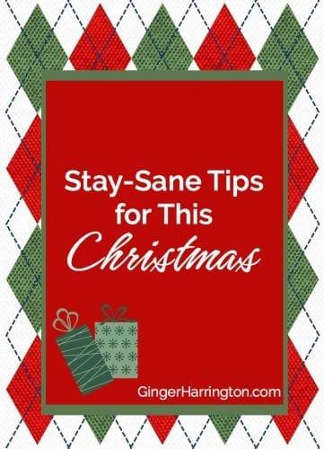 Christmas humor with stay-sane tips for this Christmas.