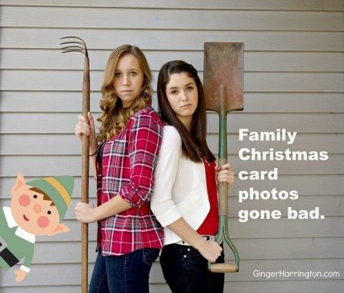 family Christmas photos gone bad