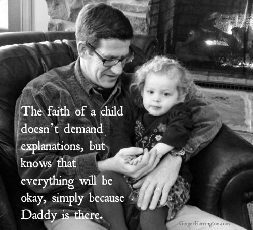 Faith, worry, childlike faith