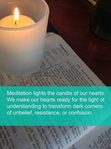 Simple ways to meditate on God's Word