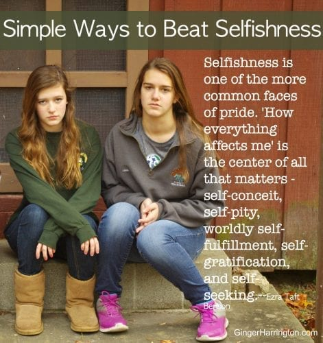 quote on selfishness