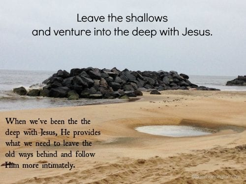 Venture into the deep with Jesus