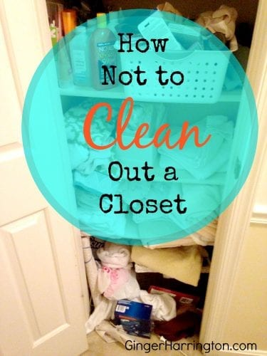 Household humor for getting organized