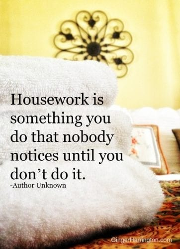 housework quote
