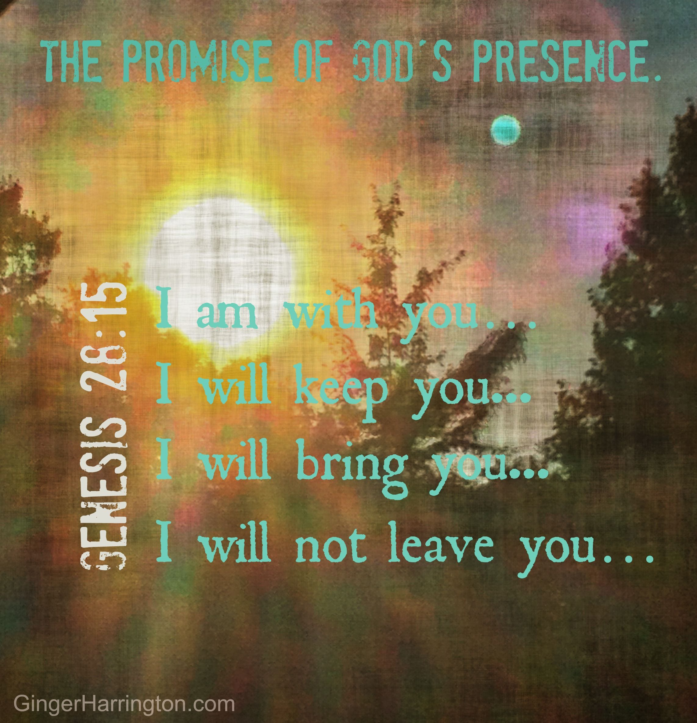 Pray the promise of God's presence for your children.
