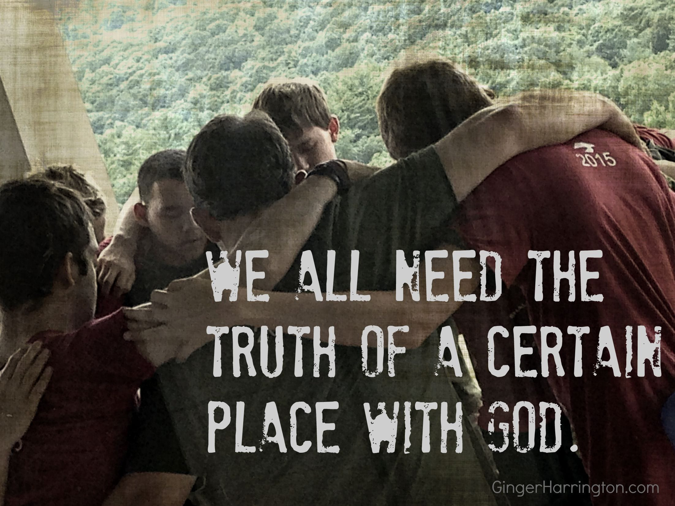 Praying for God to reveal himself to our children.