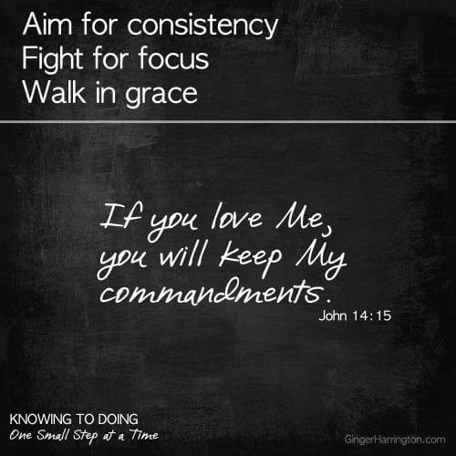 Obeying God's Word, Keep my Commandments, Loving God