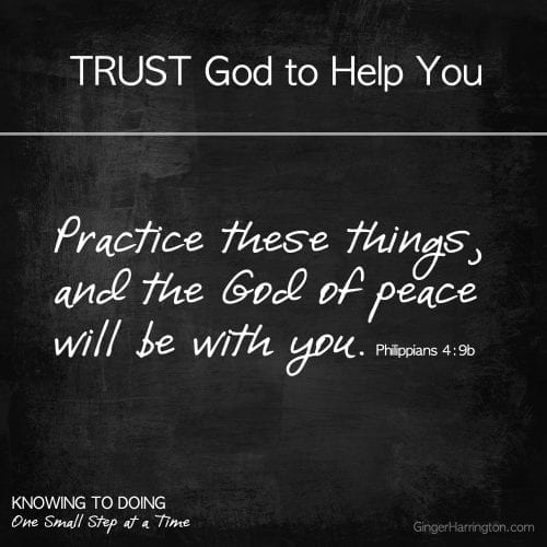 Trust God to Help you obey His Word