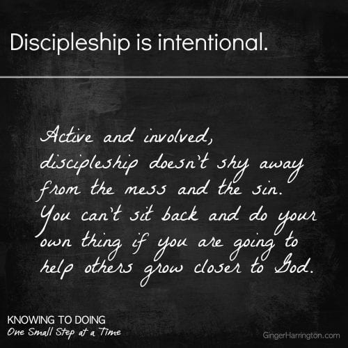 Discipleship is intentional