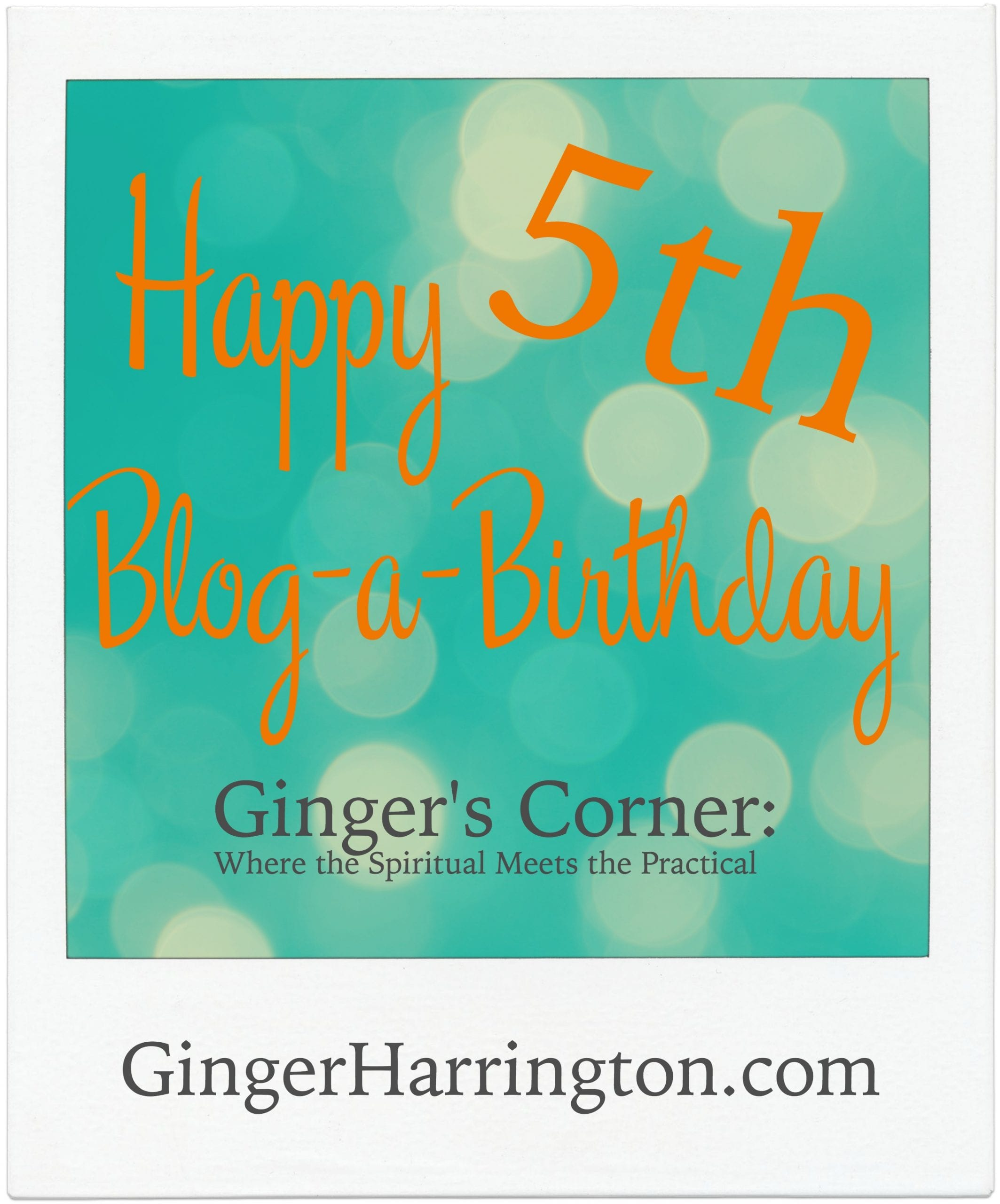 Happy 5th Blog-a-Birthday!