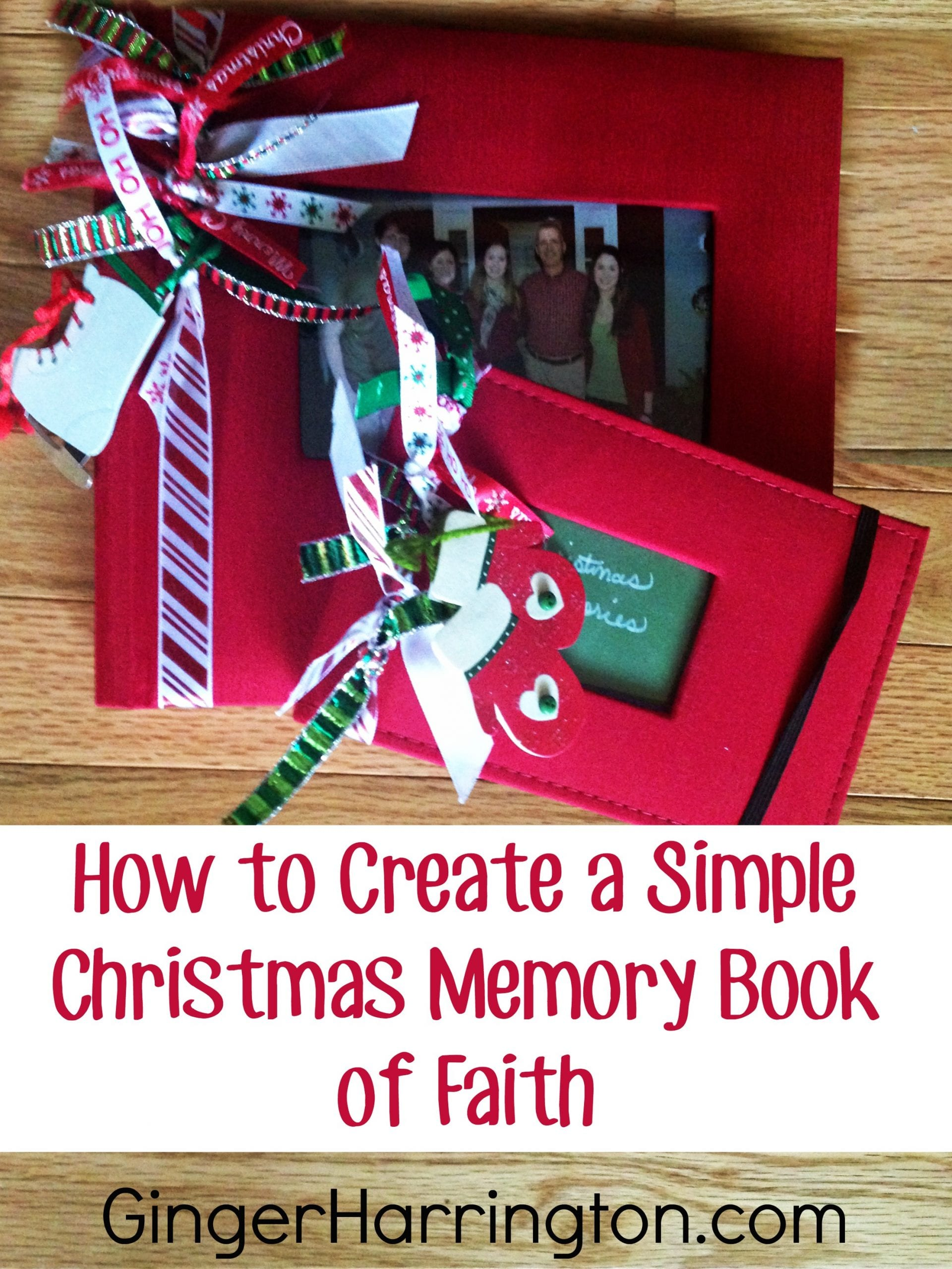 How to Create a Simple Christmas Memory Book of Faith