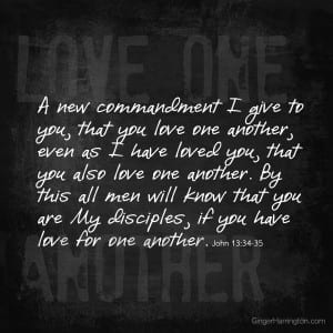 Christ teaches that loving one another is the earmark of His disciples.