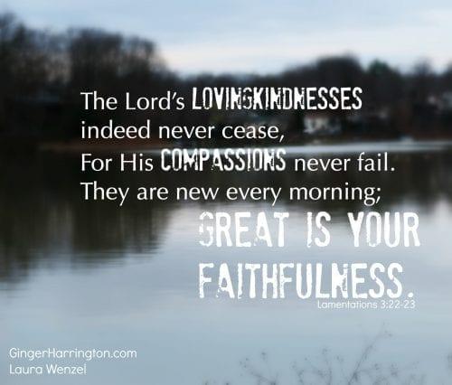 God's faithfulness, God cares about our fears