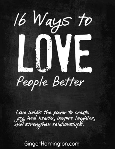 1 Corinthians 13:4-8 gives 16 ways to love people better