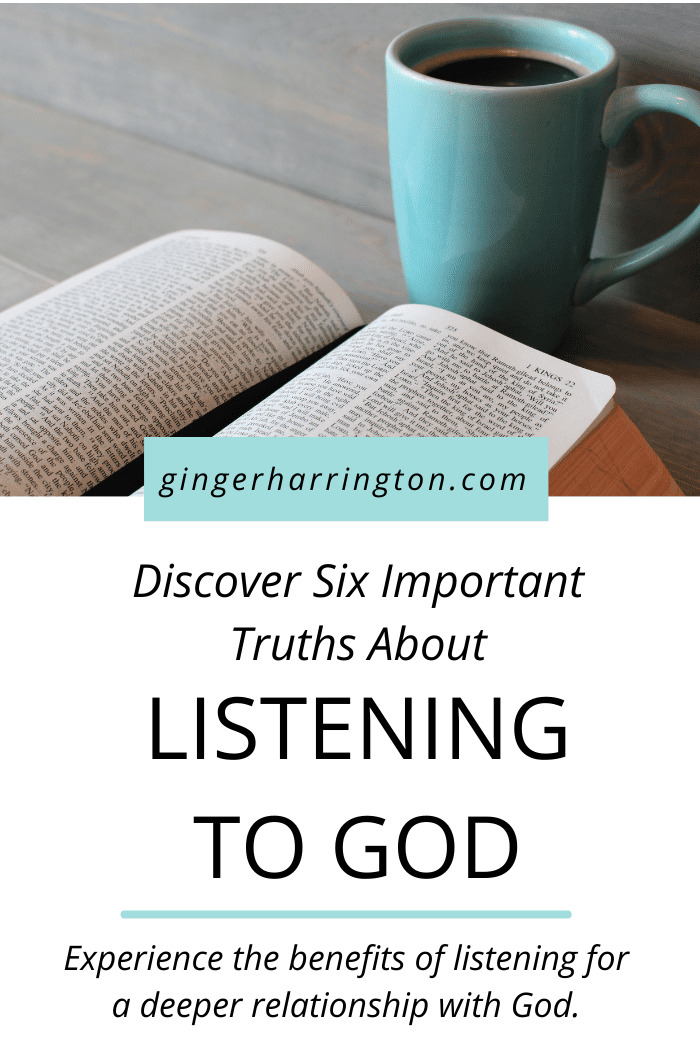 Discover six important and helpful truths about listening to God found in the Bible verse Isaiah 50:4-5. Hearing and listening to God in Scripture helps us to grow deeper with God as we recognize God's voice. Experience the benefits of listening to God when reading the Bible to accelerate your spiritual growth.