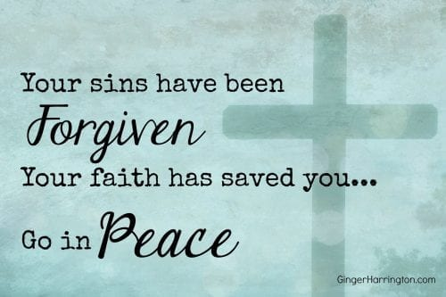 Find peace when you are desperate to be forgiven.