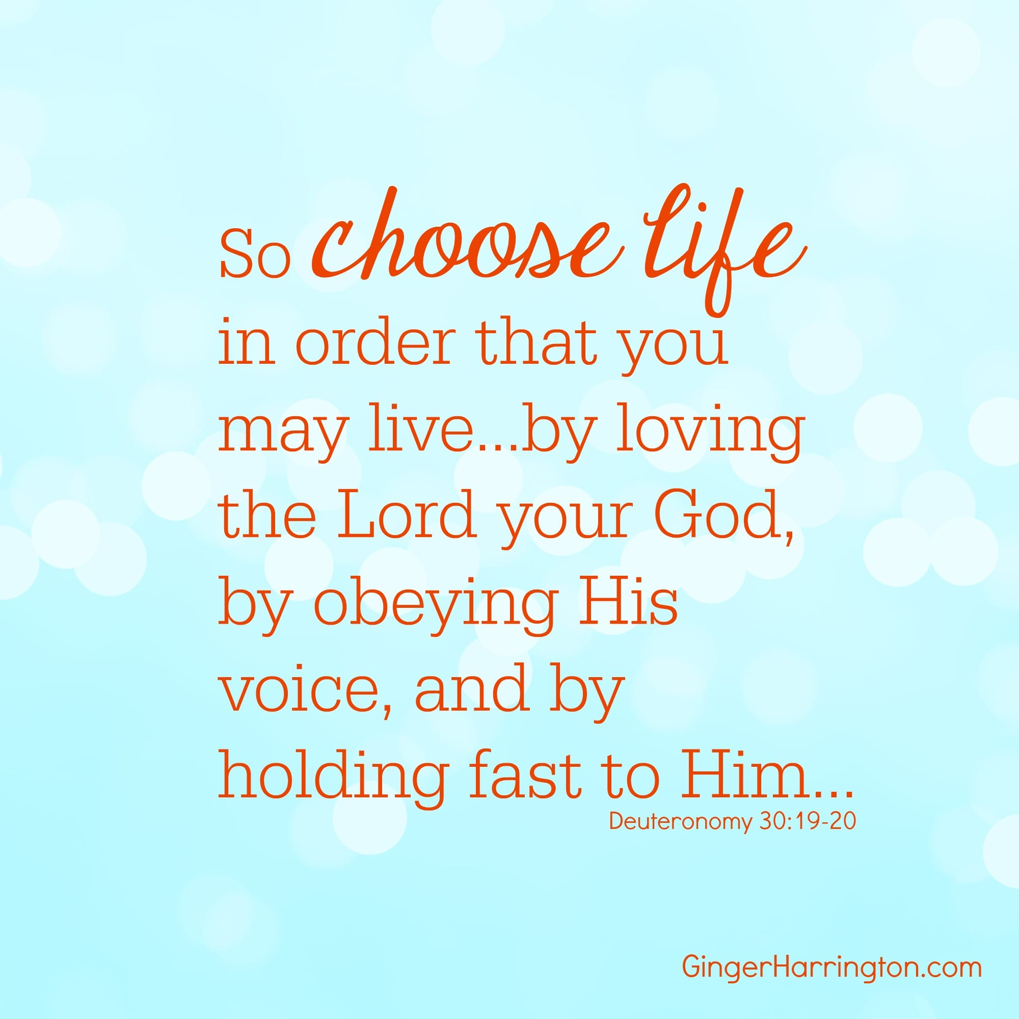 Will You Choose Life Today?