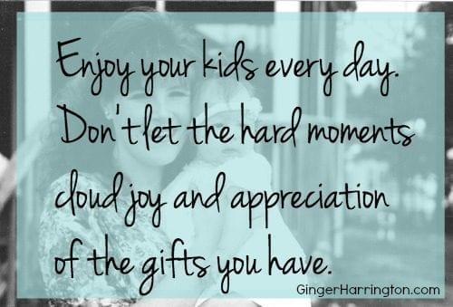 Enjoying parenthood, being mom, parenting advice