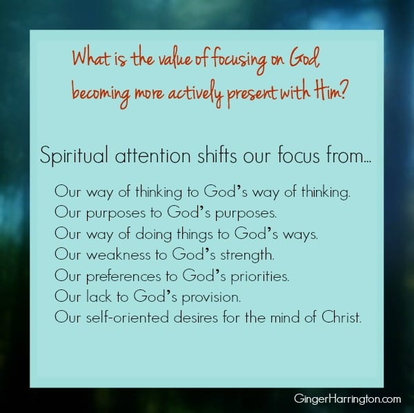 Spiritual attention, Relationship with God