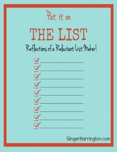 Humor, List Making, Organization