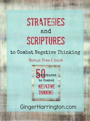 Do you struggle with negative thoughts that weigh you down? Discover strategies and scriptures to combat negative thinking. With free e-book of 50 Bible verses to help you win the war in your thoughts.