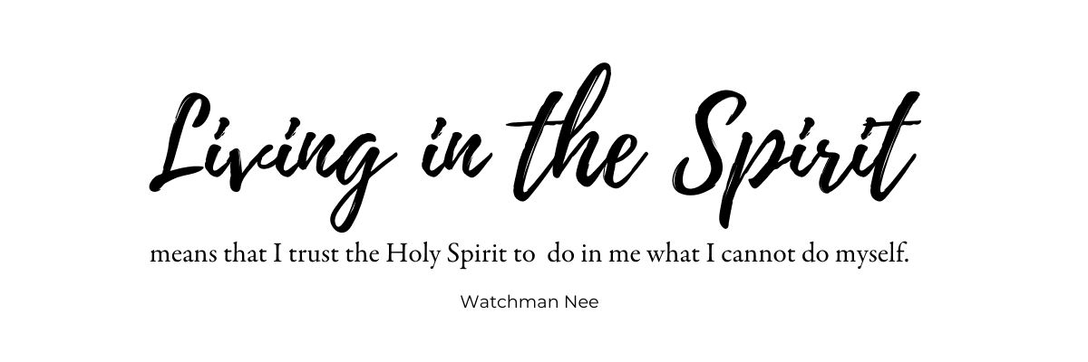 Walking in the Spirit means trusting the Holy Spirit to do what we cannot do ourselves. Trust the Holy Spirit to help you combat negative thinking.