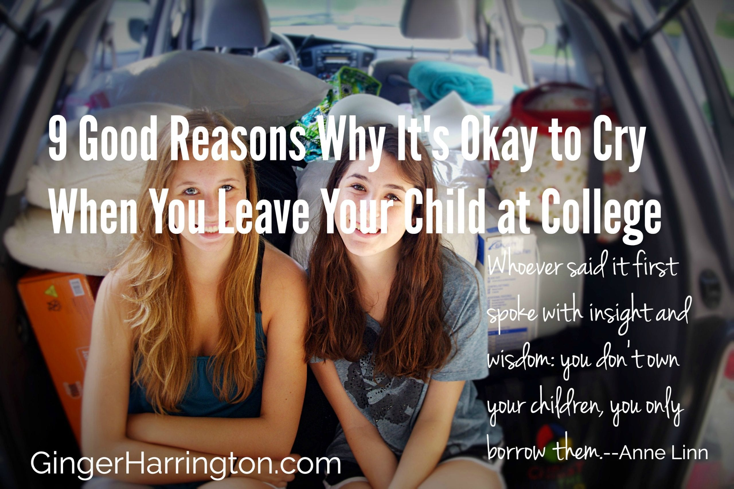 9 Good Reasons Why It's Okay to Cry When You Leave Your Child at College