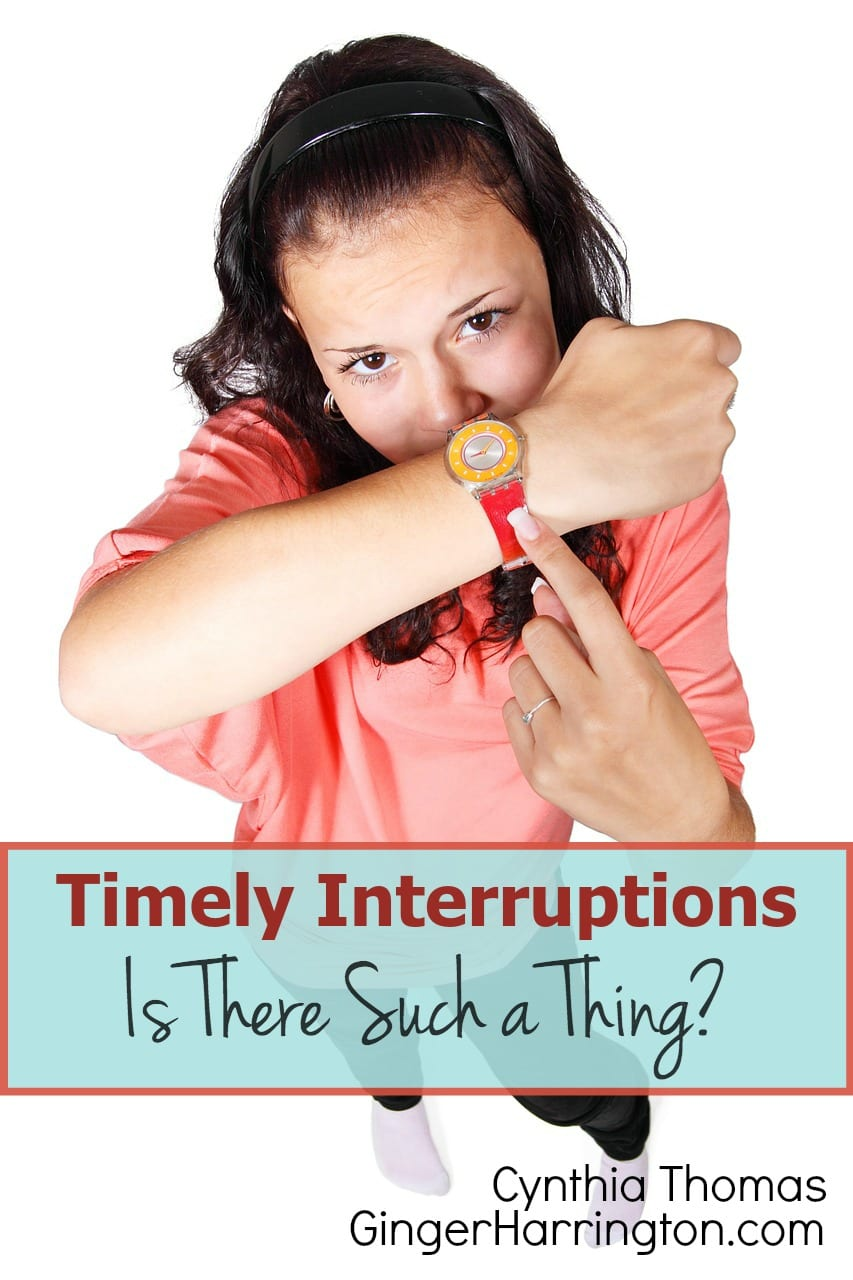 Timely Interruptions–Is There Such a Thing?