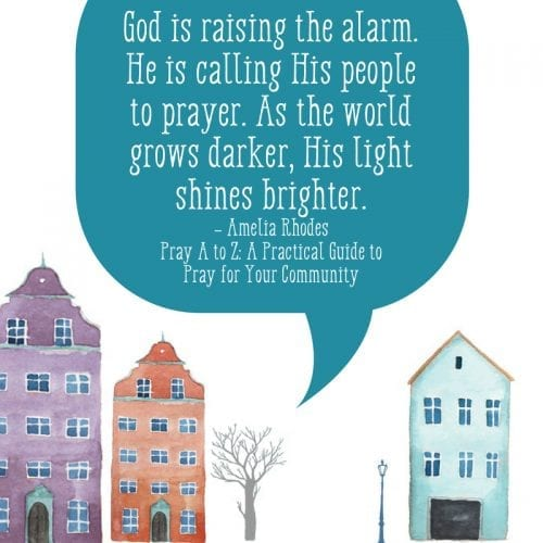 Pray for your community with a new book from Amelia Rhodes.