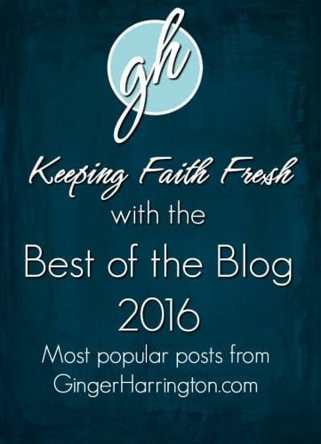 Keeping Faith Fresh best of the blog 2016