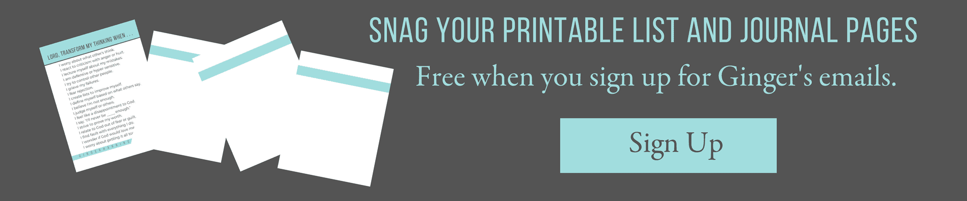 Sign up for printable list and journal pages.
