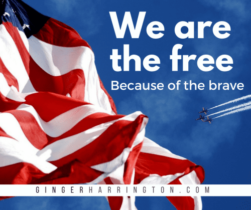 We are the free because of the brave. We all owe a debt of gratitude, honor, and respect for the brave men and women who have given the great sacrifice of life to protect our nation.