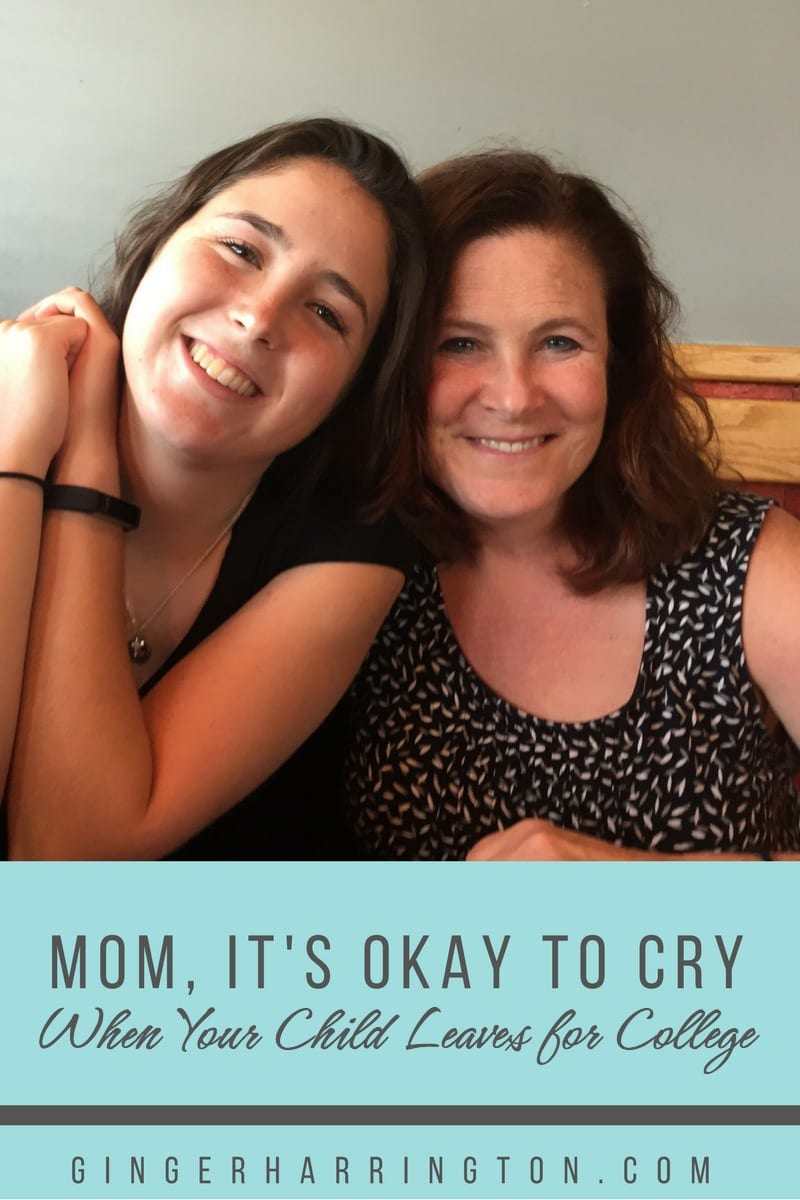 Mom, It's Okay Cry When You Leave Your Child at College